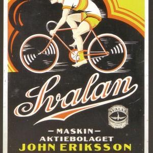 Svalan Bicycle – Retro Nostalgia Postcard