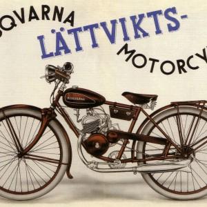 Husqvarna Lättviktsmotorcykel (MC) – Retro Nostalgia Postcard