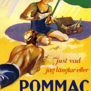Pommac on the Beach – Retro Nostalgia Postcard