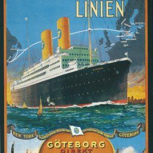 Svenska Amerika Linjen – Retro Nostalgia Postcard