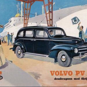 Volvo PV 830 – Retro Nostalgia Postcard