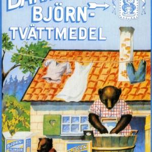 Barnängen's Björntvättmedel – Retro Nostalgia Postcard