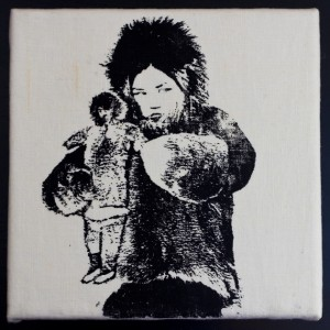 """Hiti"" The Eskimo Girl – Textile Print Picture"