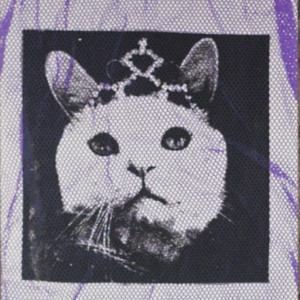 """Molly with Tiara"" – Textile handprinted picture"