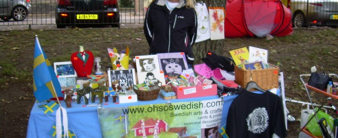 OhSoSwedish's craft stall at the Lantren Fayre, 8th of October 2011
