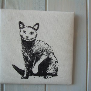 Miss Cat – Textile Printed Picture
