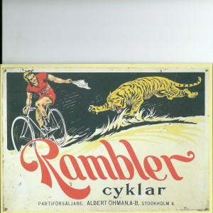 Rambler Bicycle -Swedish Nostalgia Postcard