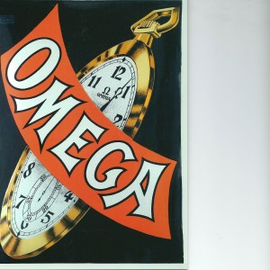 The Omega Clock- Swedish Nostalgia Postcard