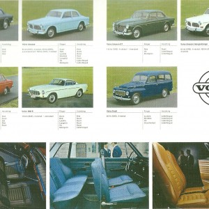 Vintage Models of Volvo 1965 – Swedish Nostalgia Postcards
