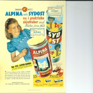 Alpina & Sydost (Cheese) – Swedish Nostalgia Postcard