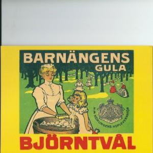 Barnängens Gula Björntvål (Soap) – Swedish Nostalgia Postcard