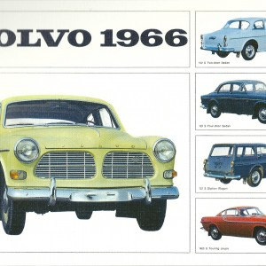 Volvo 1966: Amazon/ Station Wagon/The Touring Coupe – Swedish Nostalgia Poster