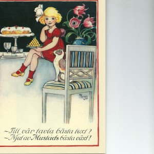 Birthday Cake – Swedish Nostalgia Postcard