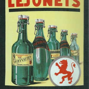 Lejonets Fizzy Drinks- Swedish Nostalgia Postcards