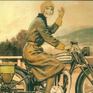 Girls on the Go / Retro Husqvarna MC – Swedish Nostalgia Poster