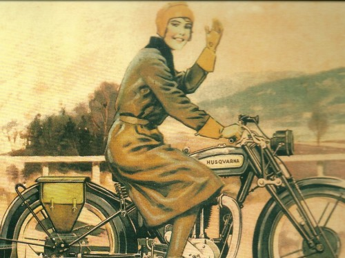 Girls on the Go / Retro Husqvarna MC – Swedish Nostalgia Postcards