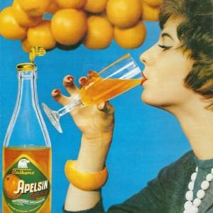 Falken Apelsin Special (orange fizzy drink) – Swedish Nostalgia Postcards