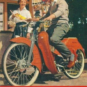 Quickly Moped – Swedish Nostalgia Postcard