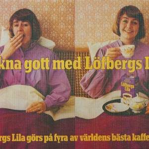 Wake up with Löfbergs Lila Kaffe – Swedish Nostalgia Poster