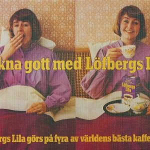 Wake up with Löfbergs Lila Kaffe – Swedish Nostalgia Poster