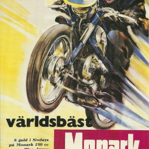 Monark MC Blue Arrow 250 cc – Swedish Nostalgia Postcard