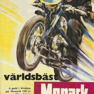 Monark MC Blue Arrow 250 cc – Swedish Nostalgia Poster