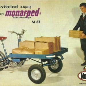 Monarped 3-wheel transport Moped – Swedish Nostalgia Poster