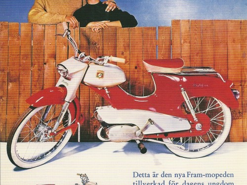 Fram Moped &#8211; Swedish Nostalgia Poster