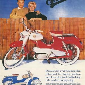 Fram Moped – Swedish Nostalgia Postcard