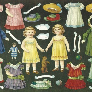 Paper Dolls – Swedish Nostalgia Postcard