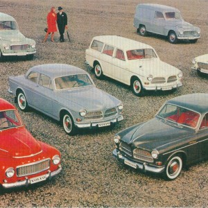 Vintage Volvos – Swedish Nostalgia Postcards