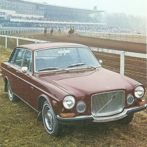 Volvo 164/1969 – 1st at the Race Course – Swedish Nostalgia Postcard