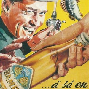 Champis & Fishing – Swedish Nostalgia Postcard