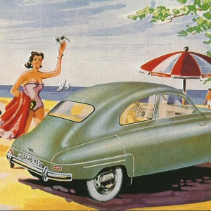 SAAB on the Beach – Swedish Nostalgia Poster