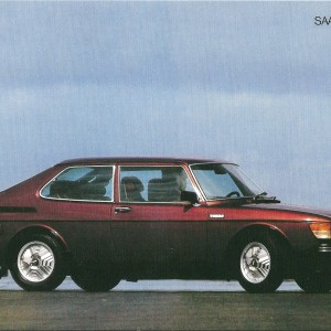 SAAB 99 Turbo 1978 – Swedish Nostalgia Postcard