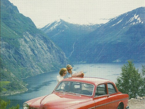 Volvo Amazon and the Fjord – Swedish Nostalgia Poster