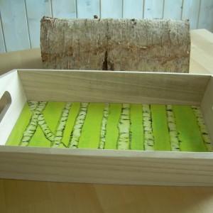 Spring Birch Forest  – Medium Wooden Tray