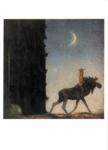 The Moose and the princess Tuvstarr – Swedish A4 postcard