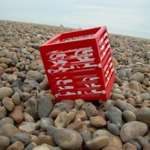 .SE – Red & White Slatted Wooden Box