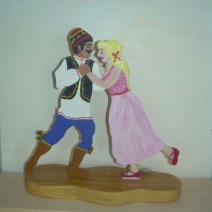 """Dance has no borders"" – Dancing Couple in Wood"
