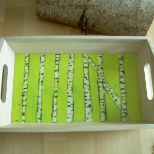 Spring Birch Forest – Small Wooden Tray