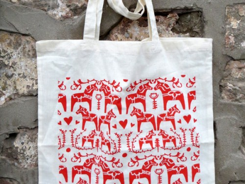 Dalahorse Tote Bag – Screen printed & Eco-friendly