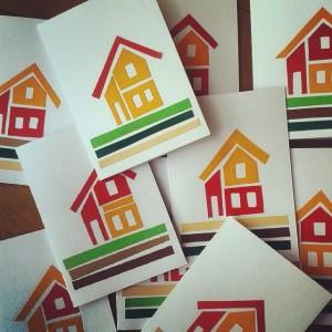 A Swedish House – Paper Cut Cabin Card