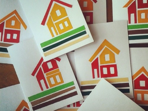 A Swedish House – Paper Cut Cabin Card