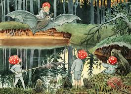 Tomtebobarnen & the Forest Lake – Elsa Beskow Postcard