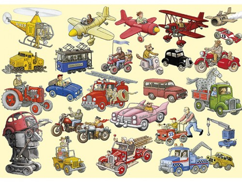 Fordon (Vehicles) – Kids Placemats with Swedish illustrations by Jan Lööf