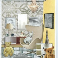 """'What Next' – Card of the serie """"Great Expectations"""" – a room interior and a dog"""