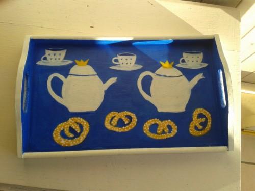 """Tea for Three in Tälje"" (the ""Sugar- Pretzel Town"")- Swedish Afternoon Tea Tray"