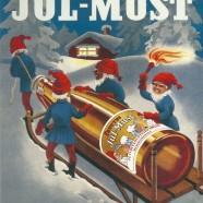 The Christmas Elves and the Sledge –  Swedish Nostalgia Christmas Postcard