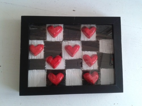 """""""Playing Chess with your Heart"""" – Red Clay hearts on matchsticks"""